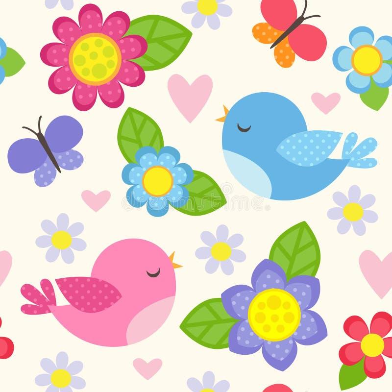 Flow_birds_patn vector illustration