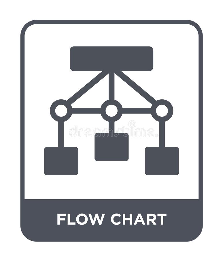 flow chart icon in trendy design style. flow chart icon isolated on white background. flow chart vector icon simple and modern royalty free illustration
