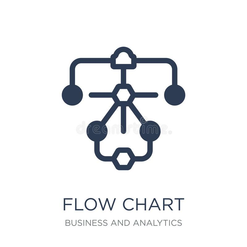 Flow chart icon. Trendy flat vector Flow chart icon on white background from Business and analytics collection royalty free illustration