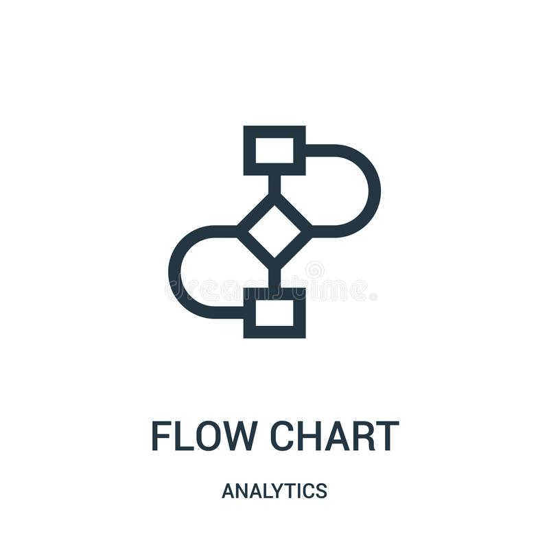 Flow chart icon vector from analytics collection. Thin line flow chart outline icon vector illustration. Linear symbol for use on web and mobile apps, logo vector illustration