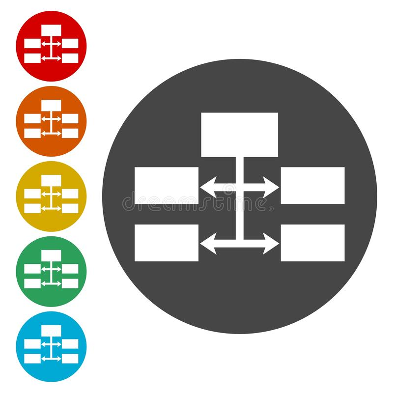 Flow chart Icon Vector. Vector icon royalty free illustration