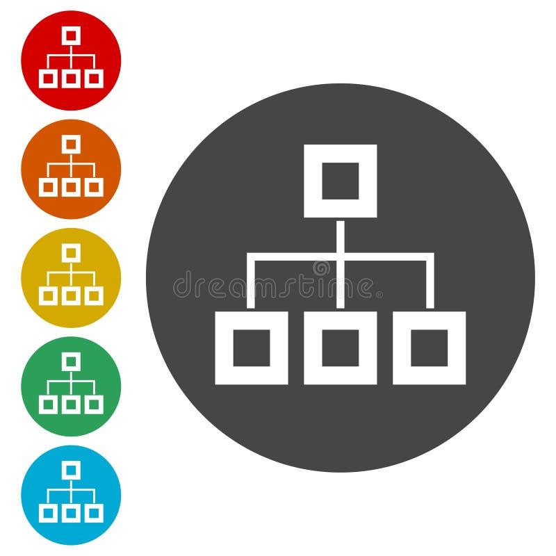 Flow chart Icon Vector. Vector icon vector illustration
