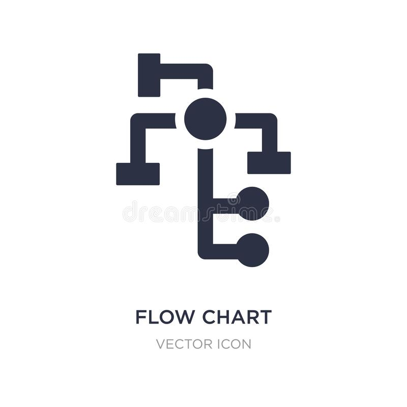 Flow chart icon on white background. Simple element illustration from Business and analytics concept. Flow chart sign icon symbol design stock illustration