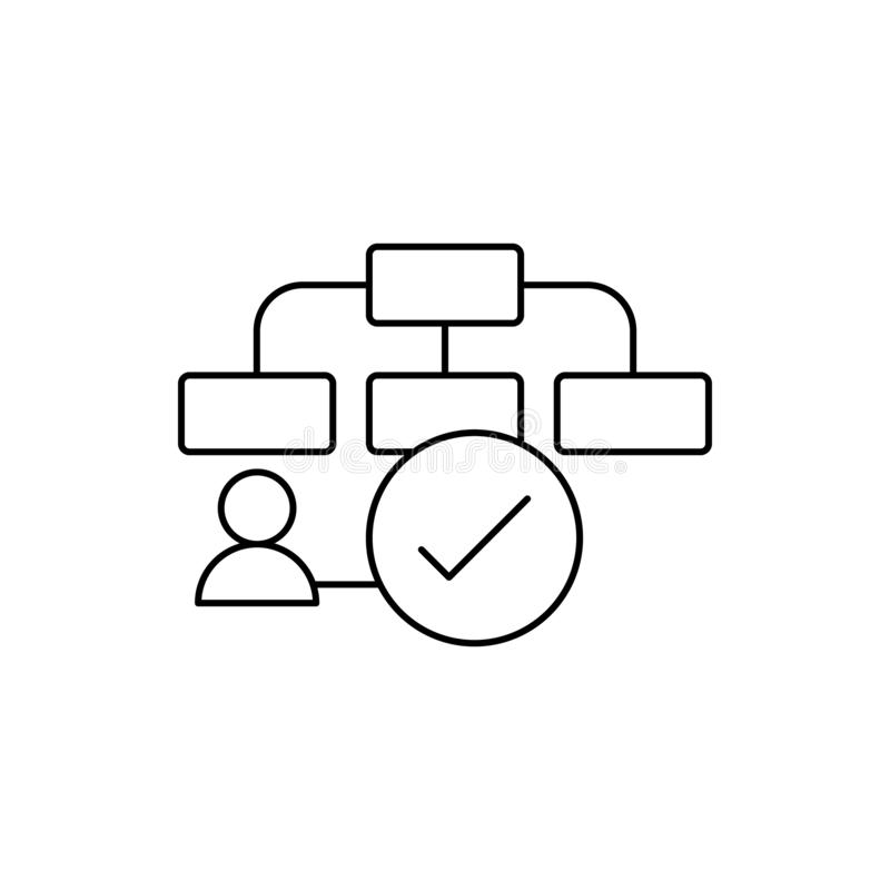 Flow chart plan icon. Element of user experience icon stock illustration