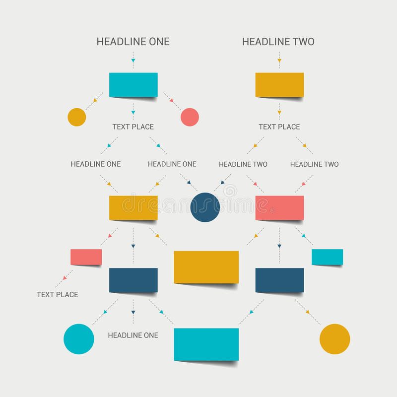 Flow chart scheme. Infographics elements. stock illustration