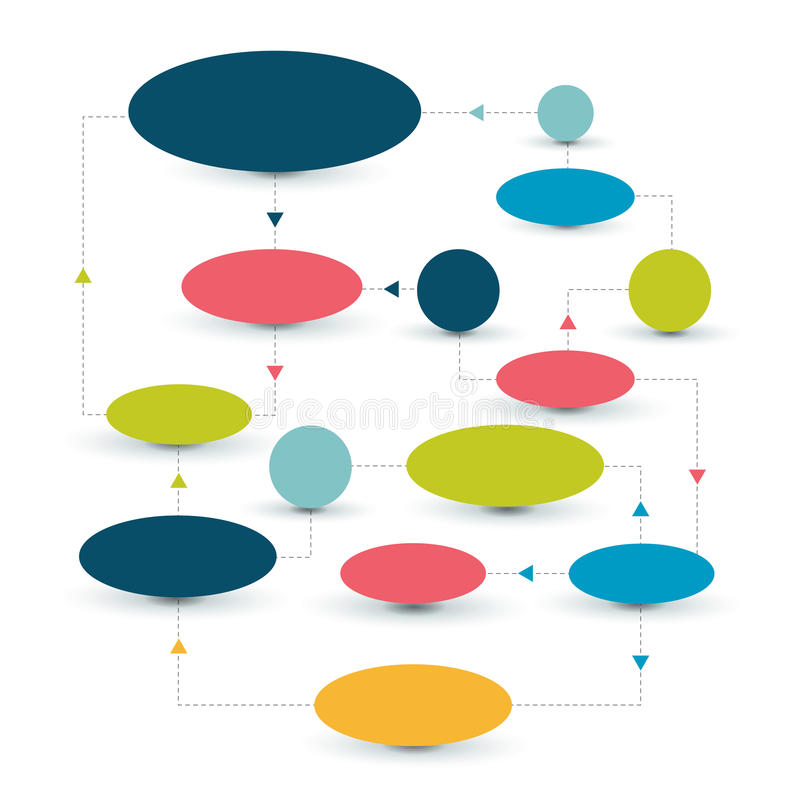 Flow chart scheme. Infographics elements. Vector design stock illustration
