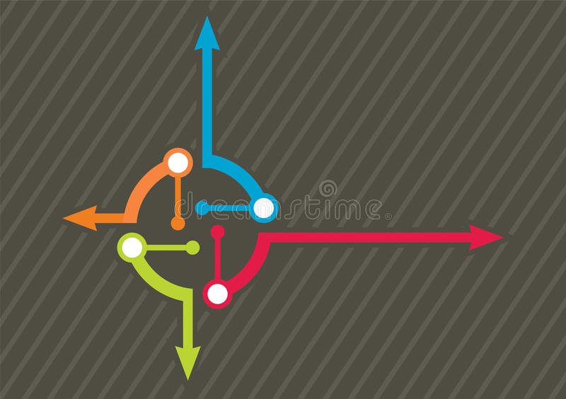 Flow chart template. Vector flow chart template, with color arrows vector illustration