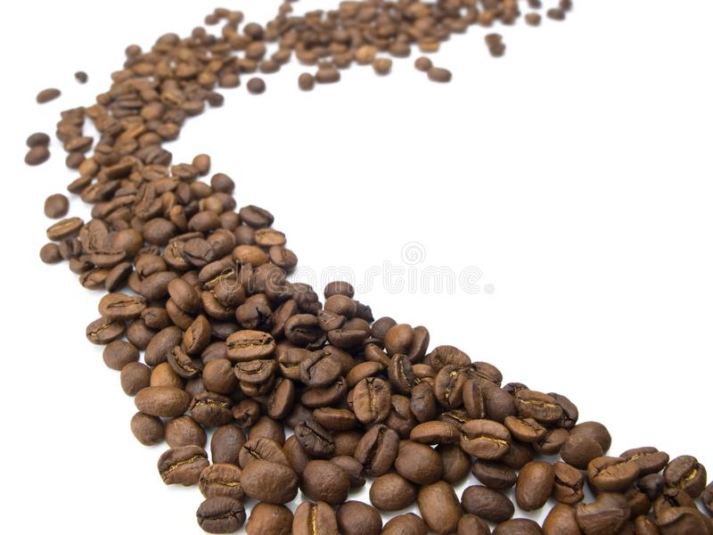 Download Flow Of Coffee Beans. Royalty Free Stock Photo - Image: 9425095