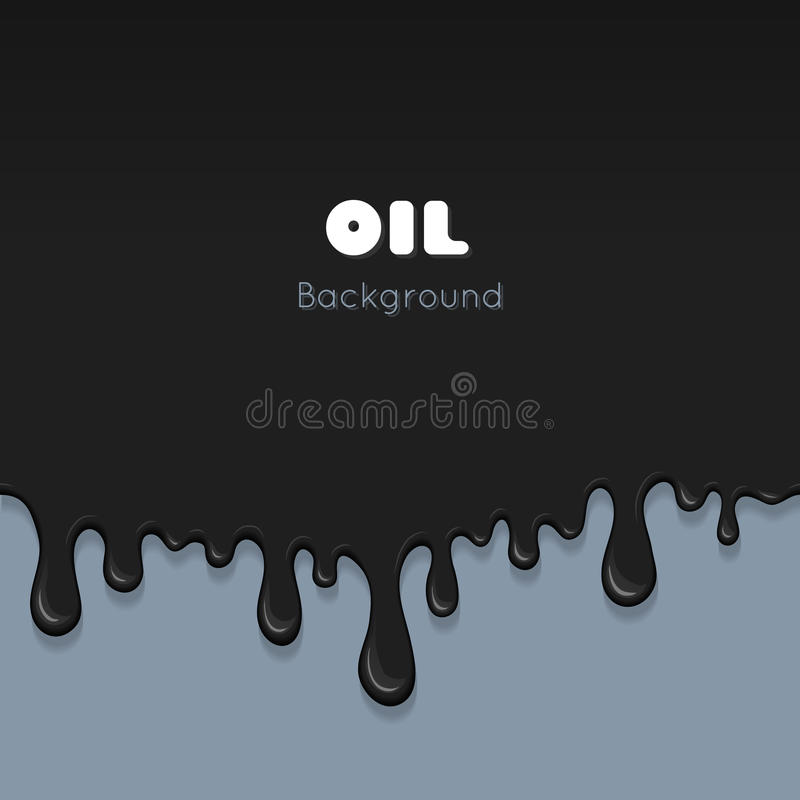 Flow ink drops, splash oil. Flow ink drops. Splash oil flowing and drip. Splatter and droplet of black liquid. Abstract stain and blob of paint - vector desin royalty free illustration