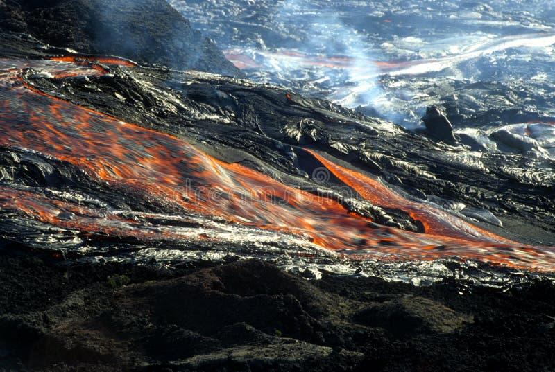 Flow of lava 2 stock photo