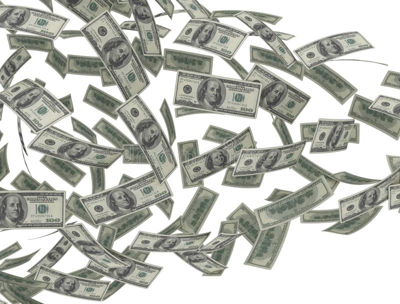 Flow of money US dollars royalty free stock photography