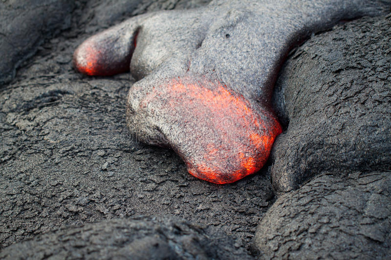 Flow of red hot lava royalty free stock images