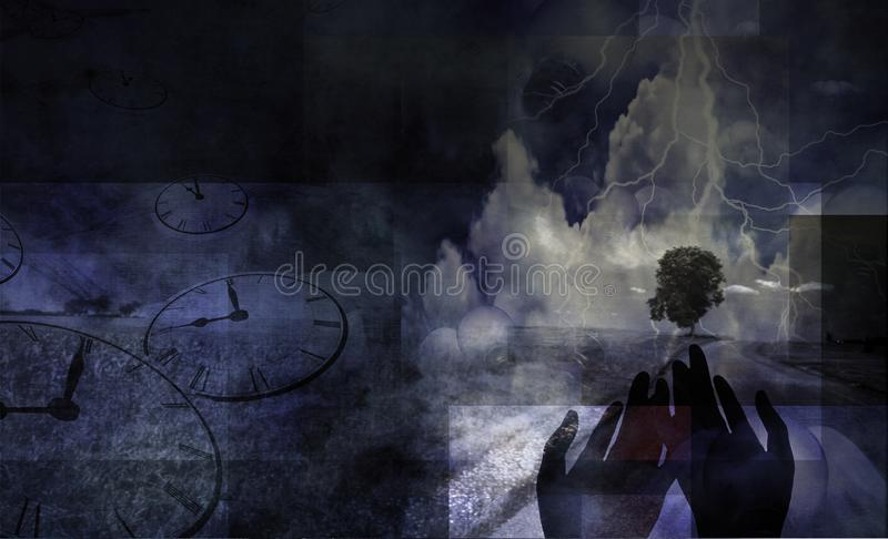 Flow of Time stock images