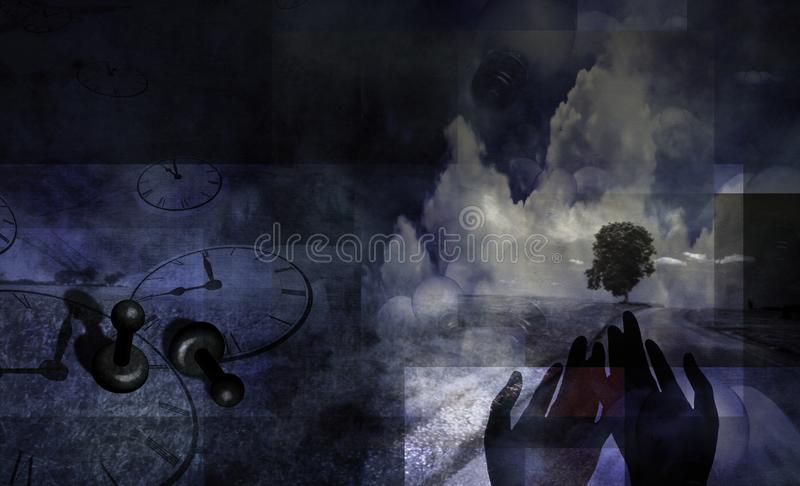 Flow of Time stock illustration