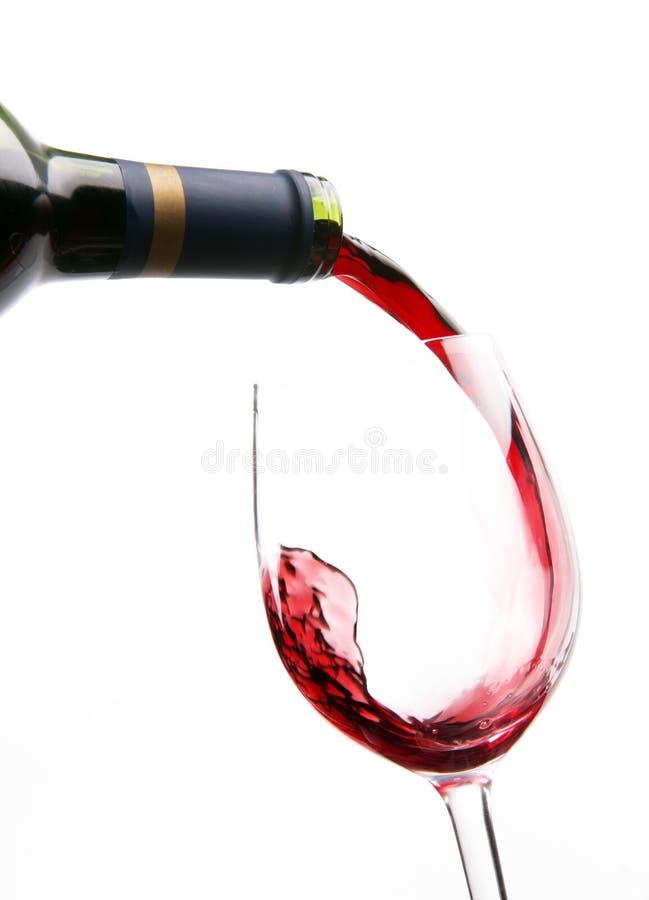 Download Flow IN Wine Red Liquid Fills Glass Stock Photo - Image: 18261348