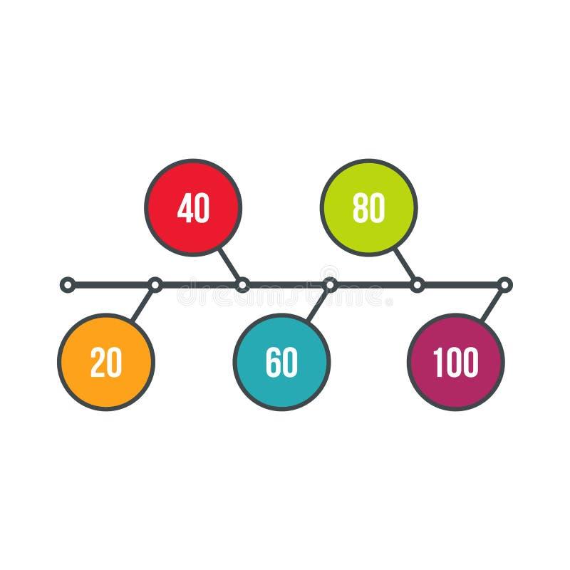 Flowchart диаграмма, значок схемы, плоский стиль иллюстрация штока