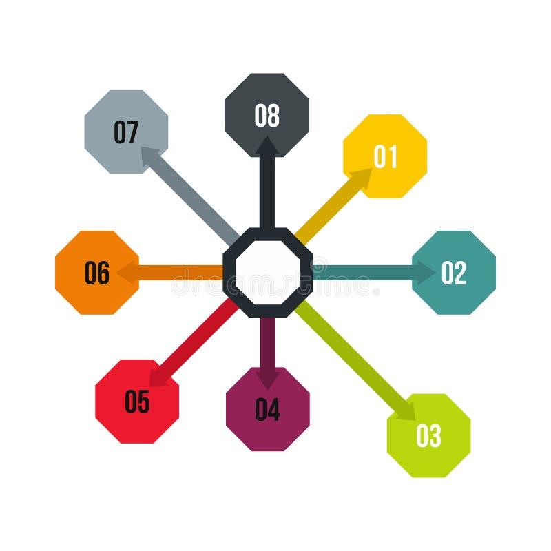 Flowchart диаграмма, значок схемы, плоский стиль иллюстрация вектора