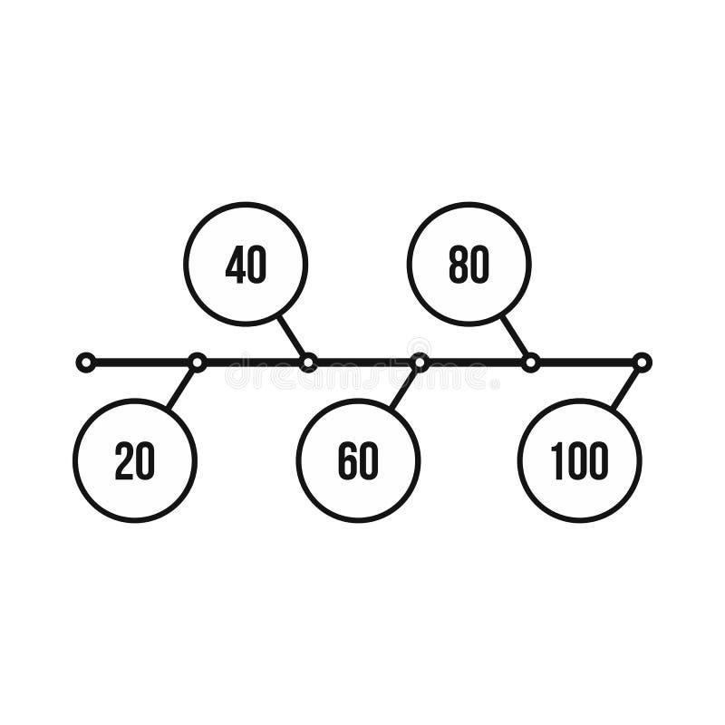 Flowchart диаграмма, значок схемы, простой стиль иллюстрация вектора