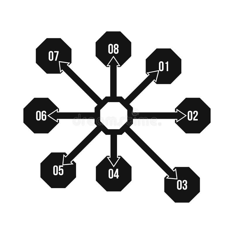 Flowchart диаграмма, значок схемы, простой стиль иллюстрация штока