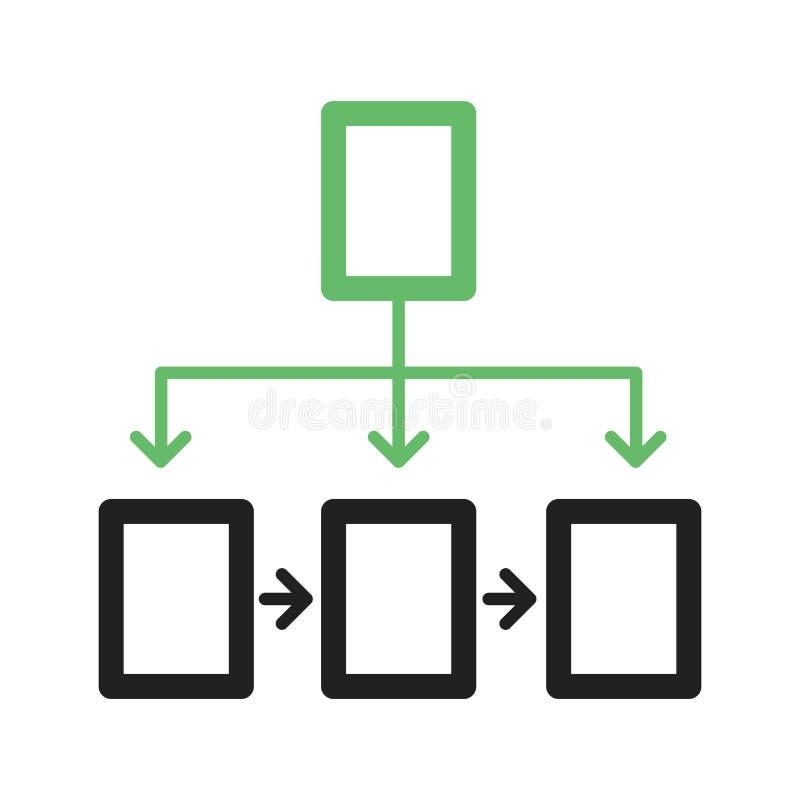 flowchart διανυσματική απεικόνιση
