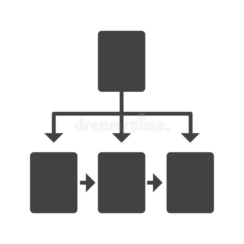 flowchart illustrazione di stock