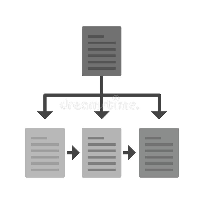 Flowchart. Chart, flowchart, structure icon image. Can also be used for software development. Suitable for mobile apps, web apps and print media royalty free illustration