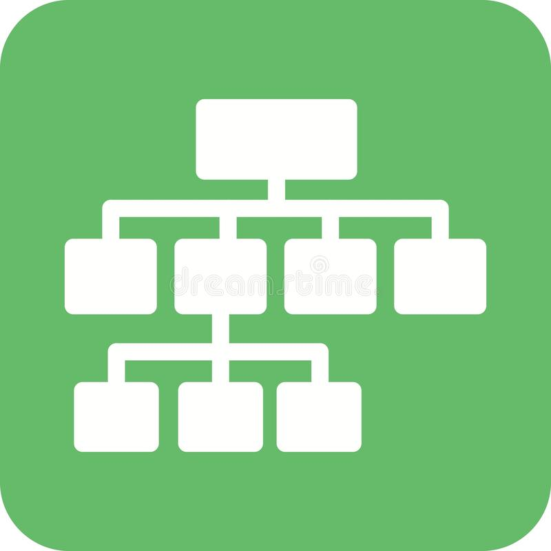 Flowchart. Chart, flowchart, structure icon vector image. Can also be used for business administration. Suitable for mobile apps, web apps and print media stock illustration
