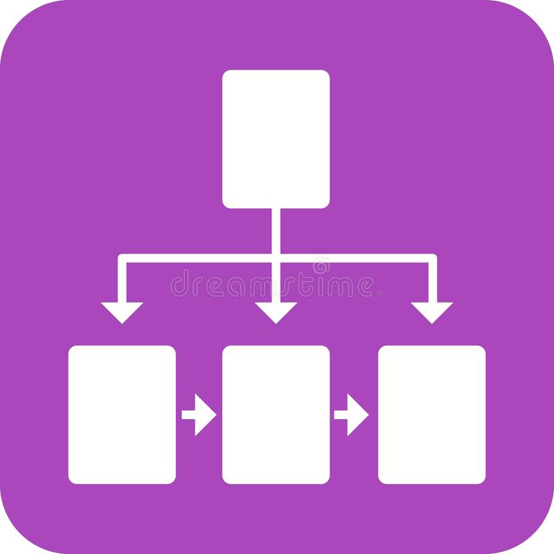 Flowchart. Chart, flowchart, structure icon vector image. Can also be used for software development. Suitable for mobile apps, web apps and print media royalty free illustration