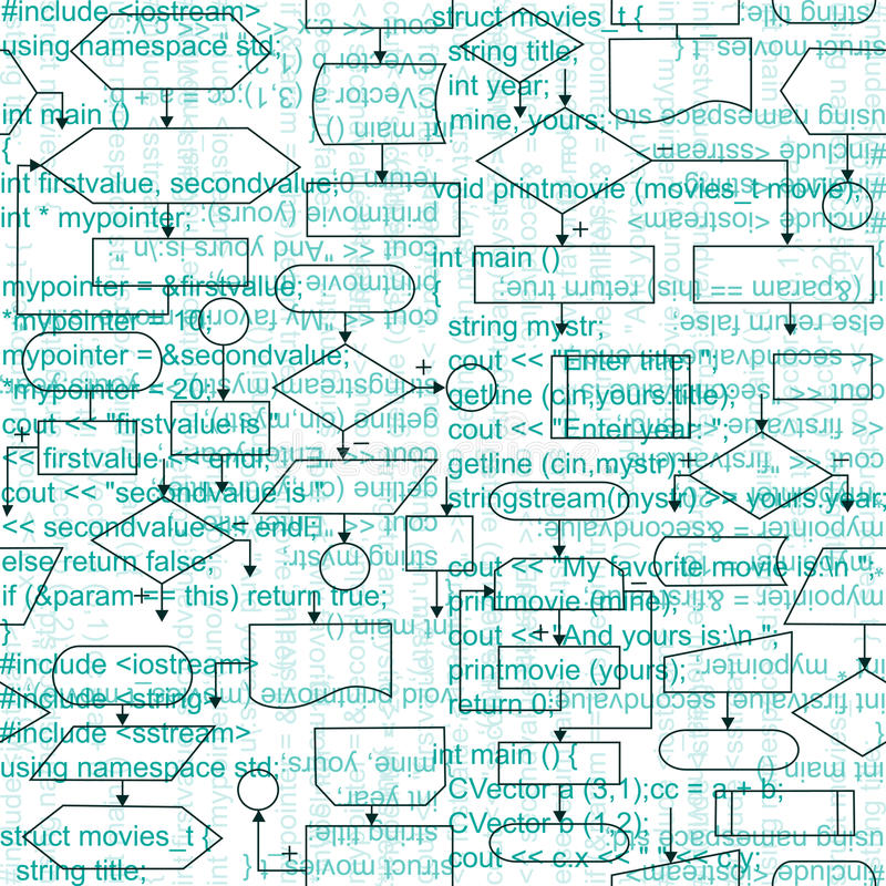 Flowchart diagramów tło ilustracja wektor