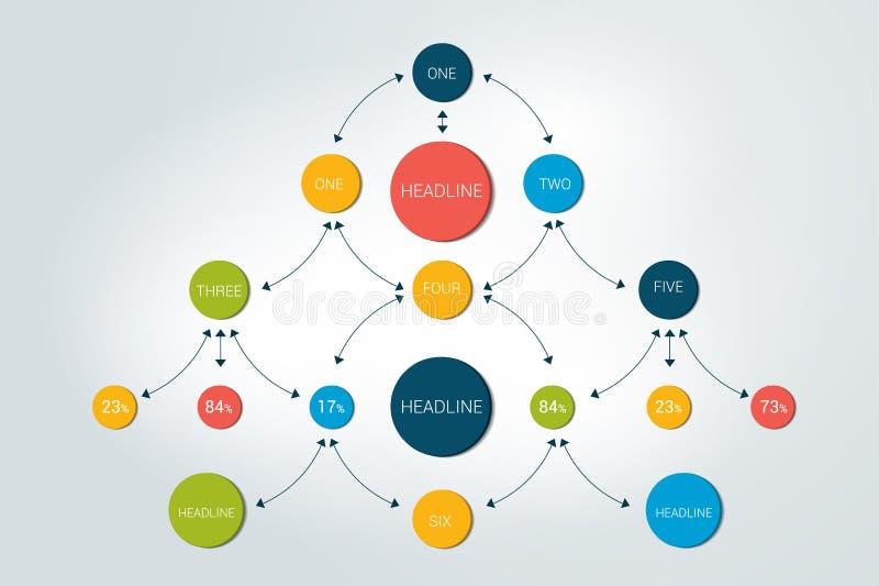 Flowchart diagram, chceme, infographic vector illustration