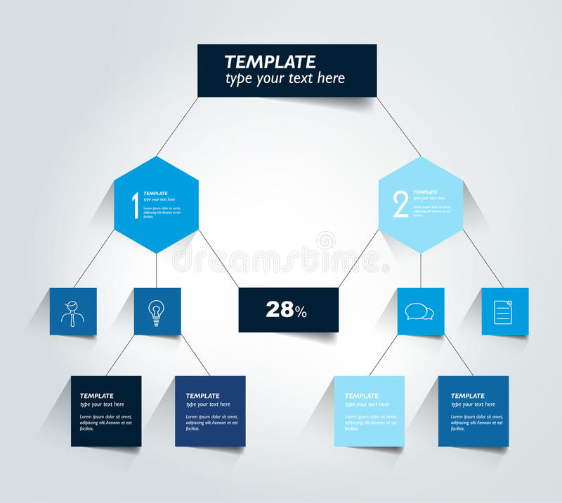 Flowchart diagram, plan Infographic element royalty ilustracja