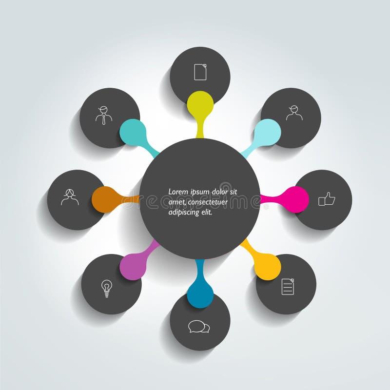 Flowchart diagram, scheme. Infographic element royalty free illustration