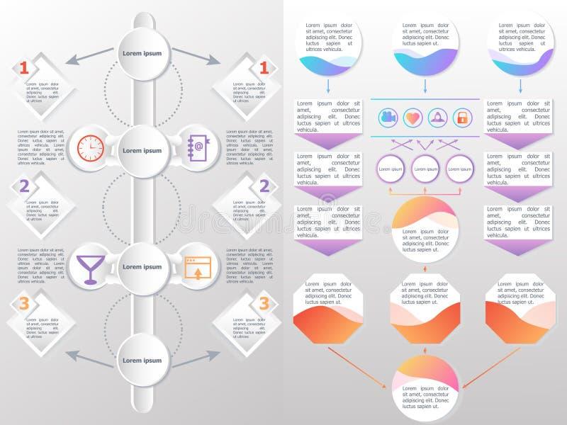 Flowchart elementów różne strzała ilustracji