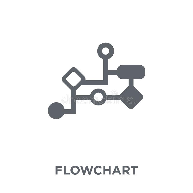 Flowchart icon from collection. stock illustration