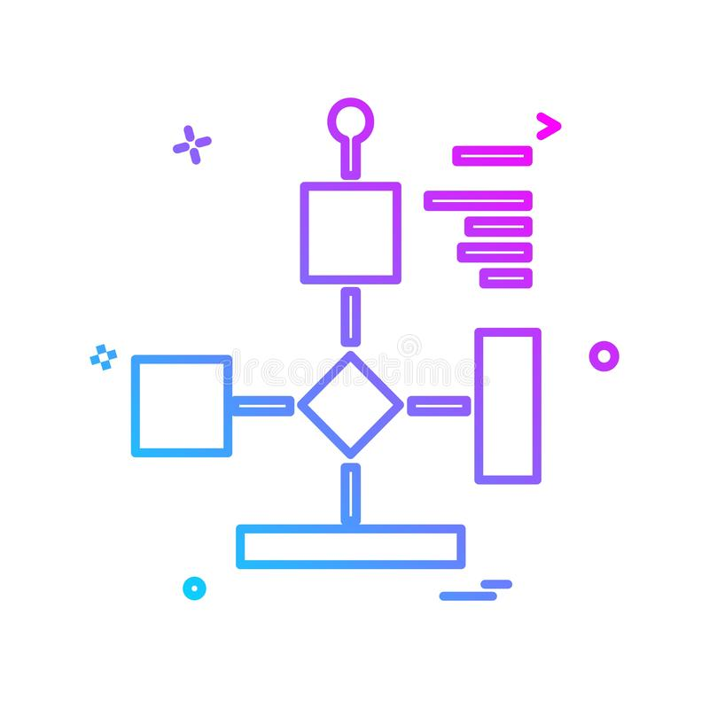 Flowchart icon design vector royalty free illustration