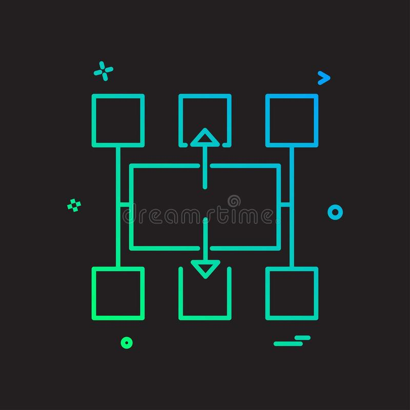 Flowchart icon design vector. This Vector EPS 10 illustration is best for print media, web design, application design user interface and infographics with royalty free illustration