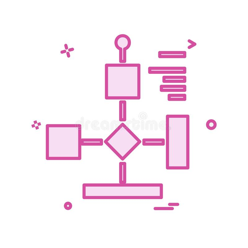 Flowchart icon design vector. This Vector EPS 10 illustration is best for print media, web design, application design user interface and infographics with stock illustration