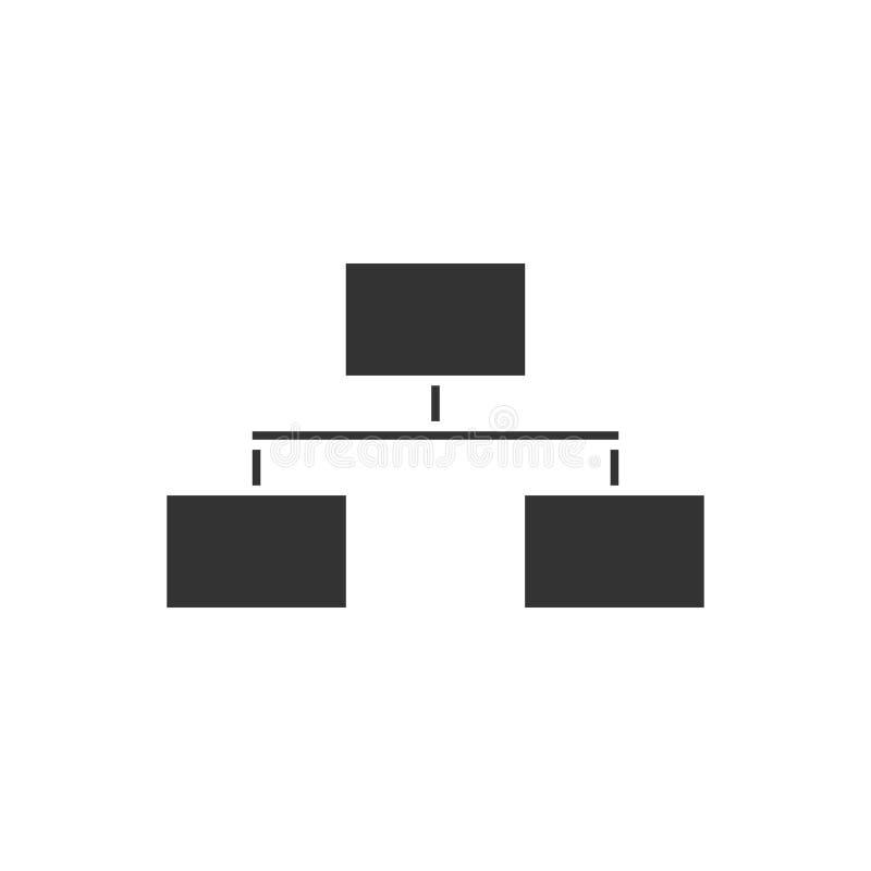 Flowchart icon flat. Flowchart. Black Icon Flat on white background stock illustration