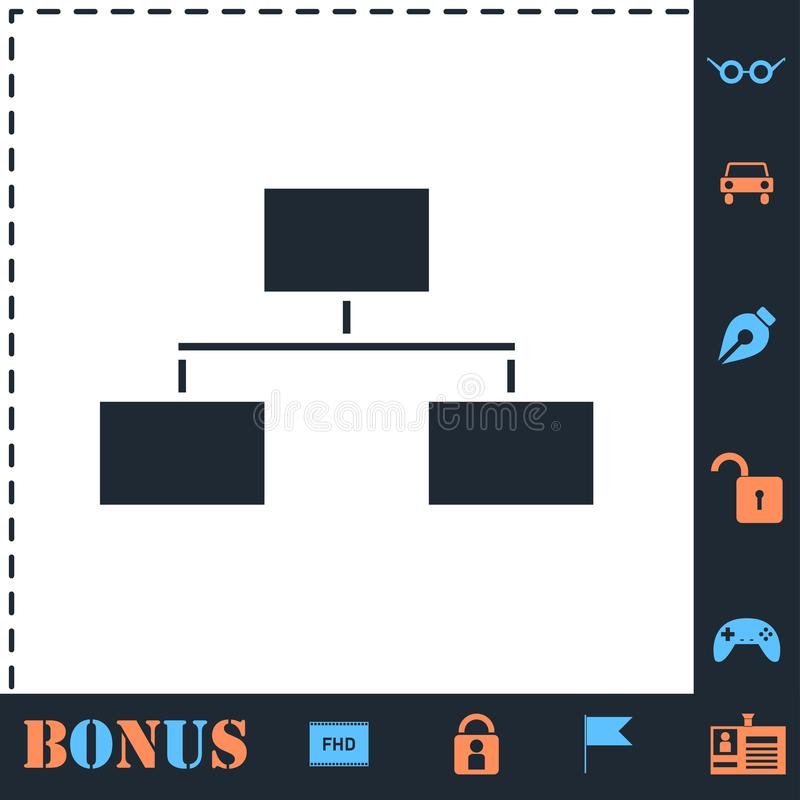 Flowchart icon flat royalty free illustration