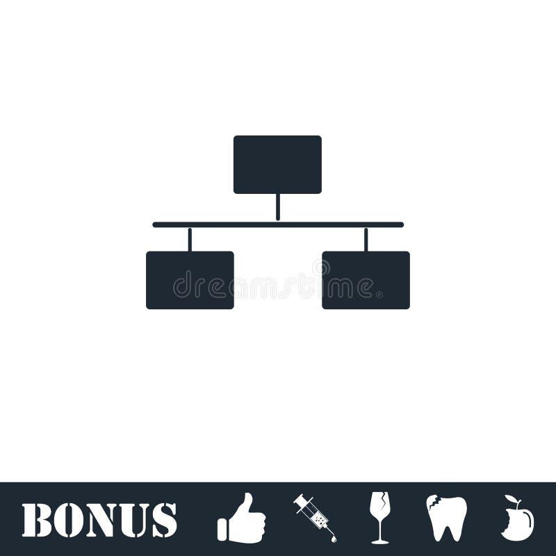 Flowchart icon flat. Vector illustration symbol and bonus pictogram stock illustration