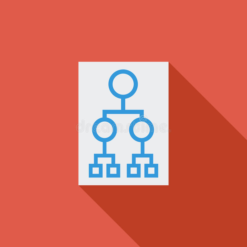 Flowchart. Flowchart icon. Flat vector related icon with long shadow for web and mobile applications. It can be used as - logo, pictogram, icon, infographic stock illustration