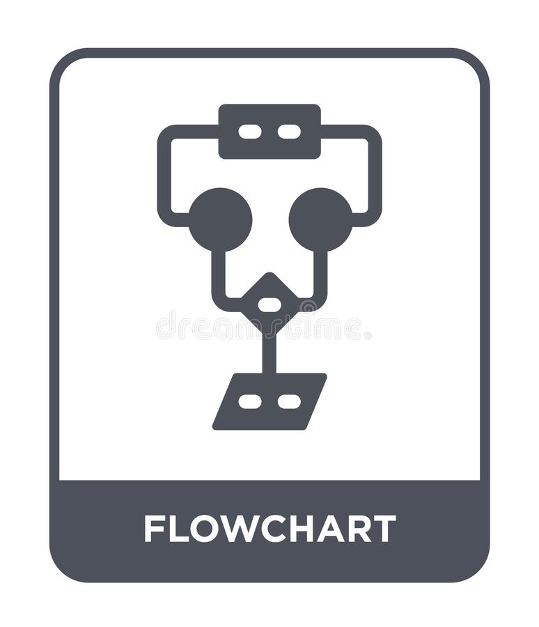 flowchart icon in trendy design style. flowchart icon isolated on white background. flowchart vector icon simple and modern flat royalty free illustration