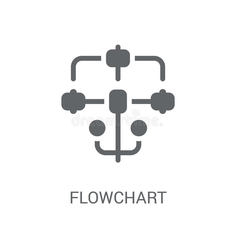 Flowchart icon. Trendy Flowchart logo concept on white background from Startup Strategy and Success collection. Suitable for use on web apps, mobile apps and royalty free illustration