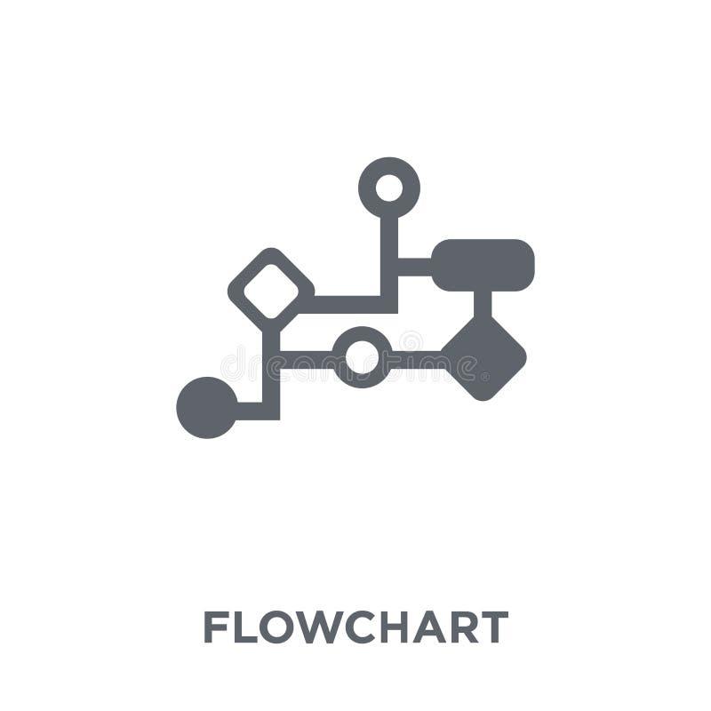 Flowchart ikona od kolekcji ilustracji
