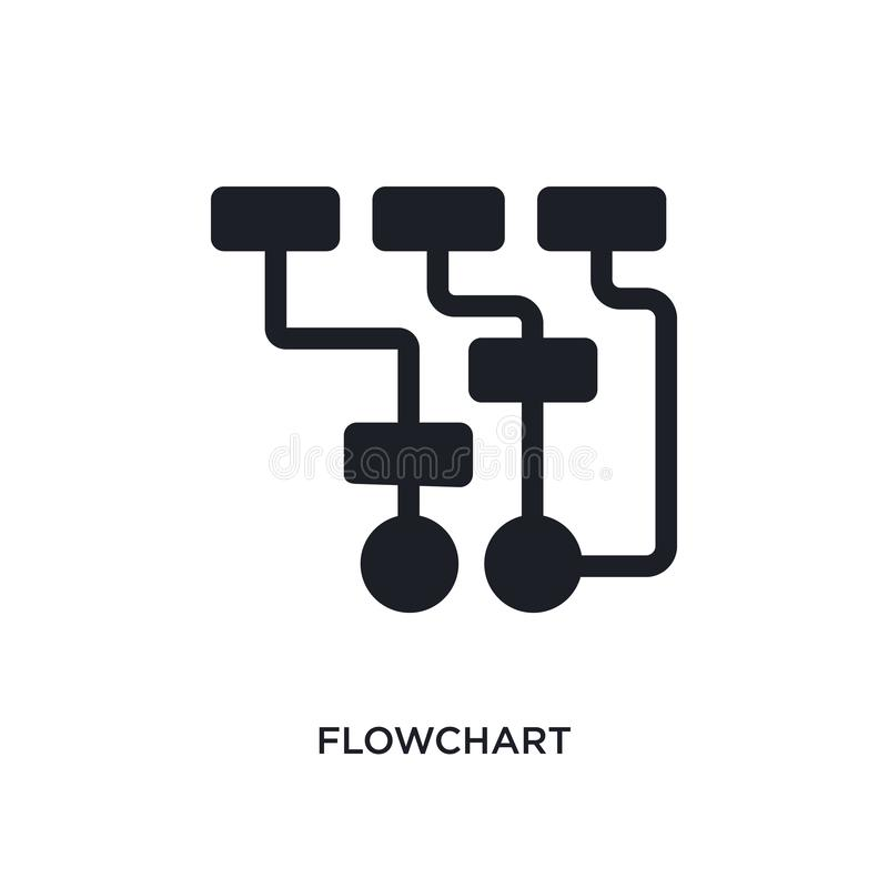 Flowchart isolated icon. simple element illustration from programming concept icons. flowchart editable logo sign symbol design on. White background. can be use royalty free illustration