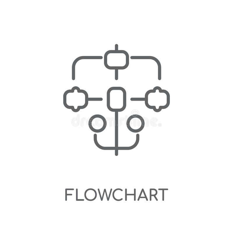 Flowchart linear icon. Modern outline Flowchart logo concept on. White background from Startup Strategy and Success collection. Suitable for use on web apps stock illustration