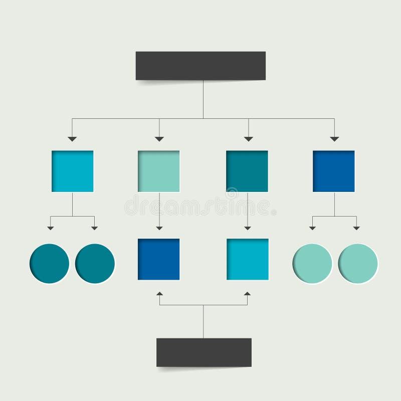 Flowchart scheme. Infographics chart element. Simply flat design royalty free illustration
