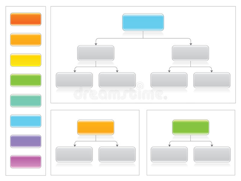 Flowchart set with flowchart elements stock illustration