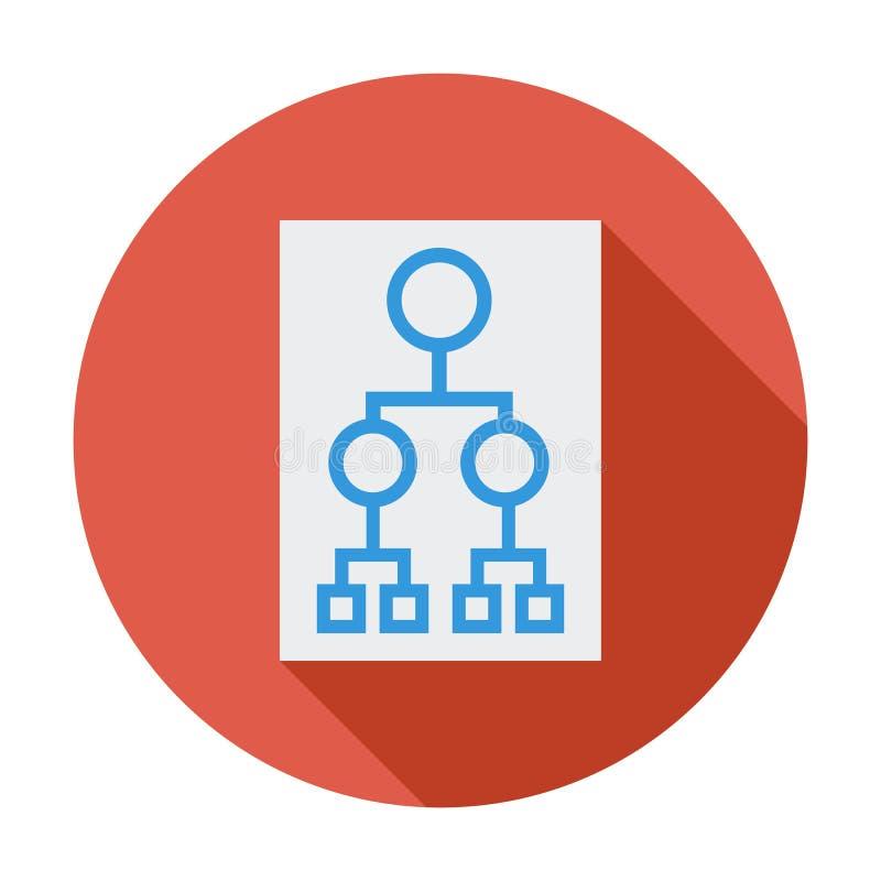 Flowchart. Single flat color icon. Vector illustration royalty free illustration