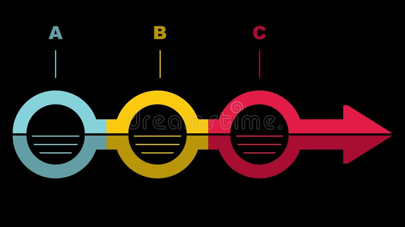 Flowchart szablon ilustracja wektor